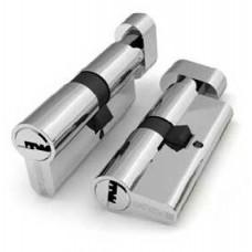 Цилиндр FUARO 60 мм (30+30) К/П мат. хром