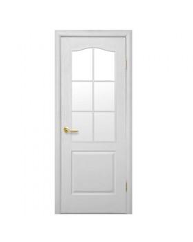"""Дверное полотно Новый стиль """"Симпли В"""" 60/2 полуостекленное"""