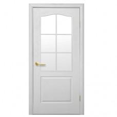 """Дверное полотно Новый стиль """"Симпли В"""" 90/2 полуостекленное"""