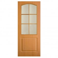 """Дверь межкомнатная """"Классика"""" Омис (полотно), орех, стекло"""