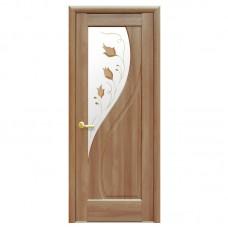 """Межкомнатные двери (полотно) ПП """"Прима"""" Р1 золотая ольха К 80"""