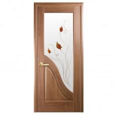 """Межкомнатные двери (полотно) ПП """"Амата"""" золотая ольха К 80+Р1"""