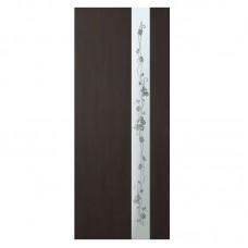 """Межкомнатные двери (полотно) ПВХ венге """"Зеркало 2"""" (80 см)"""