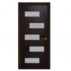 """Межкомнатные двери (полотно) ПВХ венге """"Домино"""" СС (90 см)"""