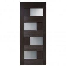 """Межкомнатные двери (полотно) ПВХ венге """"Домино 2"""" СС (80 см)"""