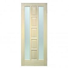 """Межкомнатные двери (полотно) ПВХ дуб беленый """"Квадрат"""" ПОО (80 см)"""