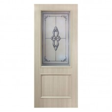 """Межкомнатные двери (полотно) ПВХ дуб беленый """"Версаль"""" ПО (80 см)"""