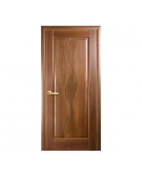 """Дверное полотно Новый Стиль """"Волна"""" золотая ольха К 80"""