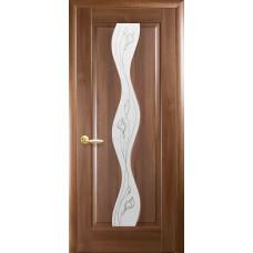 """Дверное полотно Новый Стиль """"Волна"""" золотая ольха К 60 + Р2"""