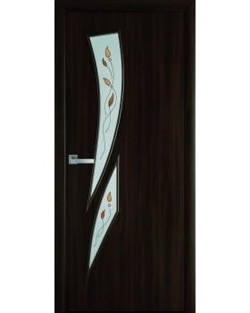 """Дверное полотно Новый Стиль """"Камея"""" орех 3D К60 + Р1"""