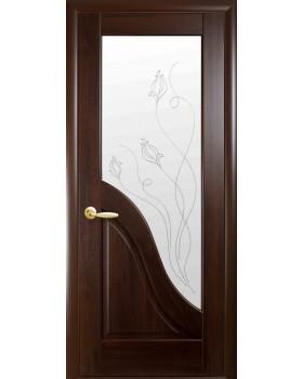 """Дверное полотно Новый стиль """"Амата"""" каштан К 80 + Р2"""