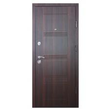 Двери металлические ДМ3 Орех темный /Дуб беленый 850*2040 левая