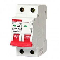 Автоматический выключатель e.mcb.stand. 45.2.C25, 2р, 25А