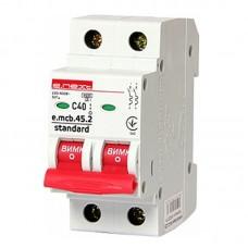 Автоматический выключатель e.mcb.stand. 45.2.C40, 2р, 40А