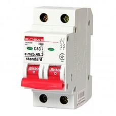Автоматический выключатель e.mcb.stand. 45.2.C63, 2р, 63А
