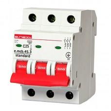 Автоматический выключатель e.mcb.stand. 45.3.C25, 3р, 25А