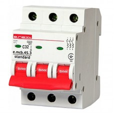 Автоматический выключатель e.mcb.stand. 45.3.C32, 3р, 32А