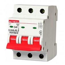Автоматический выключатель e.mcb.stand. 45.3.C40, 3р, 40А