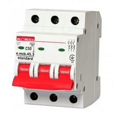 Автоматический выключатель e.mcb.stand. 45.3.C50, 3р, 50А