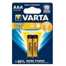 "Батарейка ""VARTA""AAА/LR03 Longlife Alkaline (блистер 2 шт)"