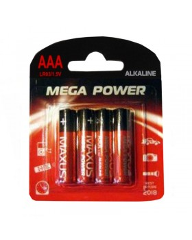 "Батарейка алкалиновая ""MAXUS"" AAA/LR03 1,5V (AAA 4P, LR03)"