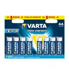 """Батарейка """"VARTA"""" AA/LR6 High-Energy (блистер 8 шт)"""