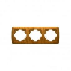 Рамка 3-я горизонтальная VIKO Decora бук