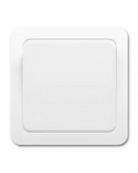"""Выключатель одноклавишный """"Электромакс"""" Гарант (белый"""