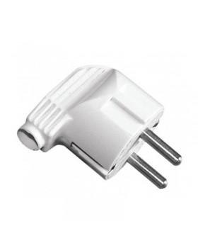 Вилка электрическая LUXEL c заземлением угловая