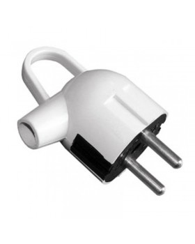 Вилка электрическая LUXEL с заземлением угловая с кольцом