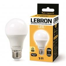 Лампа светодиодная LED L-A60 12W 3000K 220V E27 LEBRON