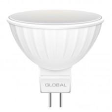 """Лампа светодиодная """"GLOBAL LED"""" LED MR16 3W 3000K 220V GU5.3"""