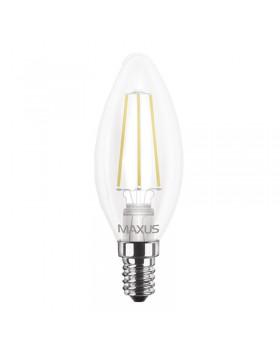 Лампа светодиодная Maxus LED C37 FM-C 4W 3000K 220V E14