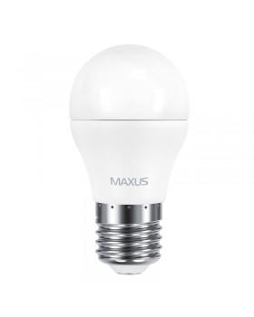 Лампа светодиодная Maxus LED G45 F 8W 4100K 220V E27