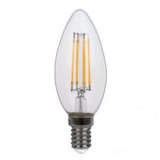 Лампа светодиодная LUXEL filament C35 Е14 4W 4000К