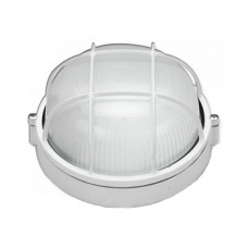 Светильник влагозащищенный SL-1251 100W круглый, с решеткой, белый