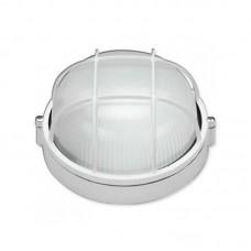 Светильник влагозащищенный SL-1051 60W круглый, с решеткой, белый