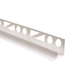 Уголок для плитки внутренний 6 мм белый
