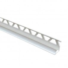 Уголок для плитки внутренний 8 мм белый