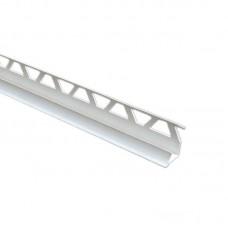 Уголок для плитки внутренний 9 мм белый