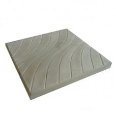 """Тротуарная плитка """"Волна"""" (песчаник) серая 300х300х30 мм"""