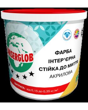 Акриловая краска стойкая к мытью ANSERGLOB (4,2 кг)