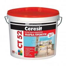 """Акриловая краска """"Ceresit"""" СТ-52 белая для внутренних работ (10 л)"""