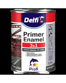 """Грунт-эмаль по ржавчине 3 в 1 """"Delfi"""" графит 2.8 кг"""