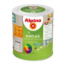 Эмаль акриловая Alpina шелковисто-матовая Aqua Buntlack SM B1  2,5 л