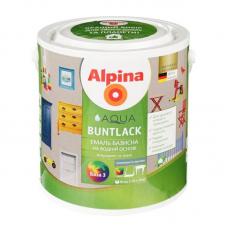 Эмаль акриловая Alpina глянцевая Aqua Buntlack SM B3 2,35 л