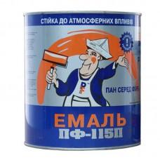 Алкидная эмаль ПФ 115П Panafarb красная 2,8 кг