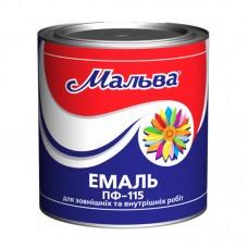 """Эмаль алкидная """"Мальва"""" ПФ-115Д 0,9 кг"""
