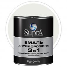 Эмаль антикорозийная 3в1 Supra белая 0,8 кг