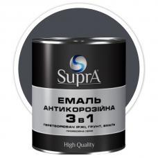 Эмаль антикорозийная 3в1 Supra графитовая 0,8 кг